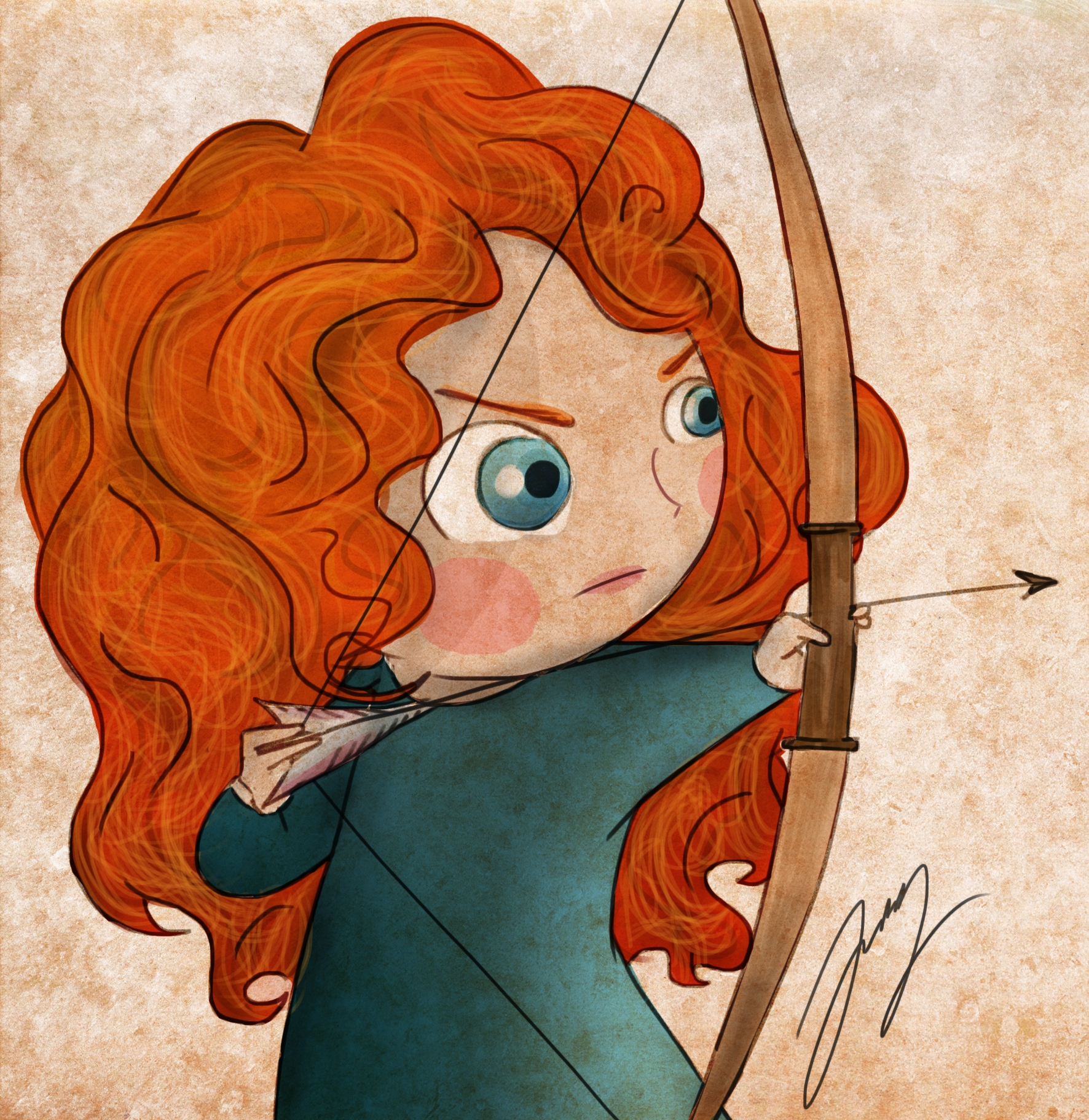 Baby Merida Digital Illustratio - lucylodraws | ello