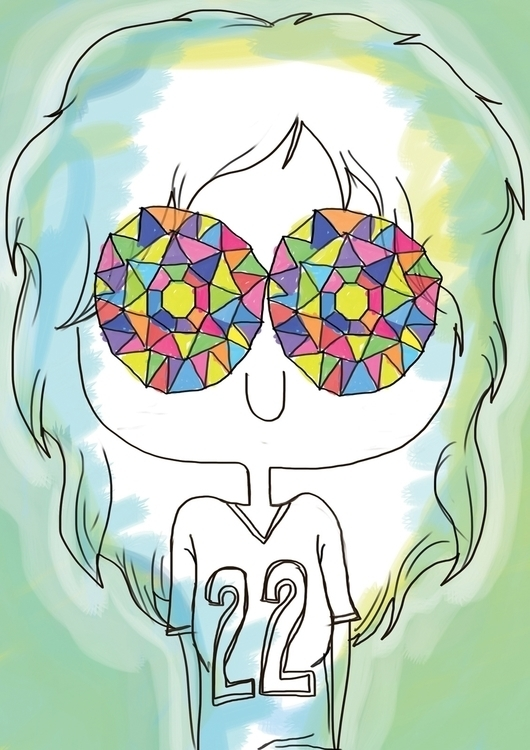 Girl Kaleidoscope Eyes Digital  - lucylodraws | ello