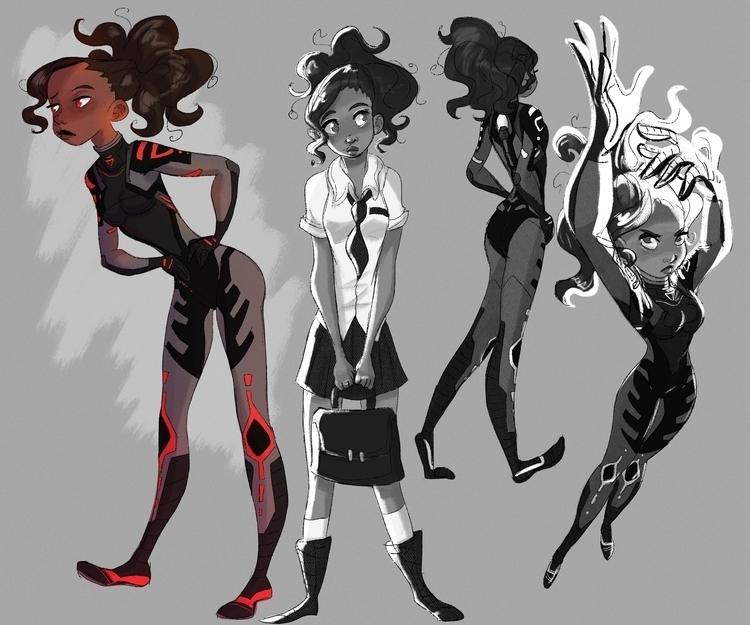 Character design personal proje - susandrawsthings | ello