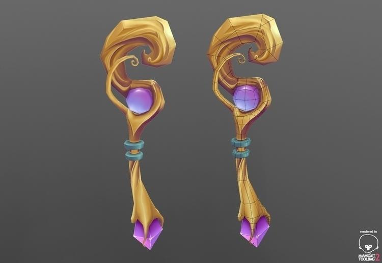 Magic wand staff Concept - 3d - ghostb | ello