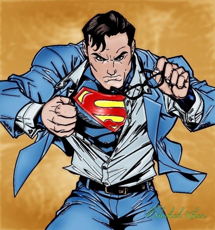 Superman Color Shahab Khan - comics - shahab01 | ello