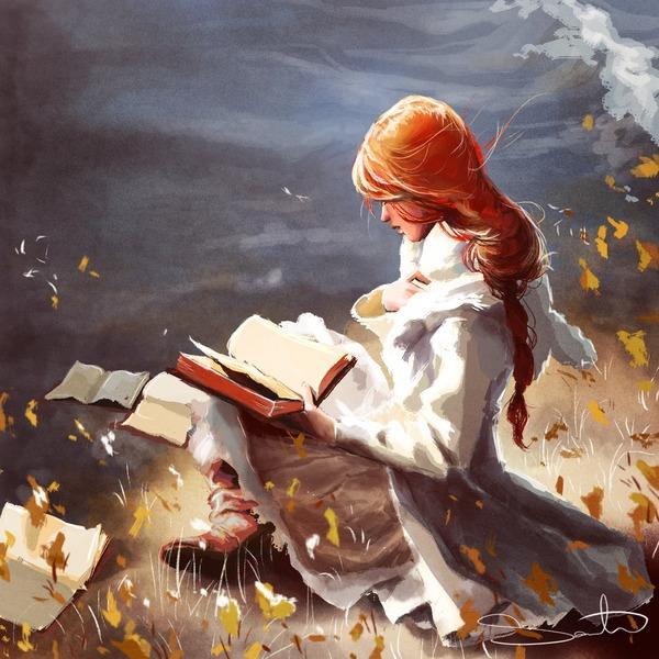 reading, books - samanthadoodles | ello
