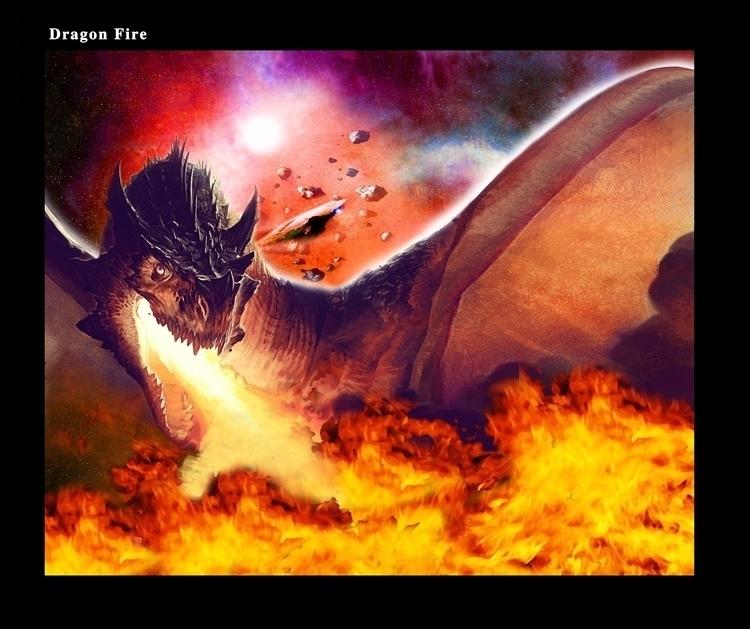 Dragon Fire - dragon, illustration - rpoling | ello