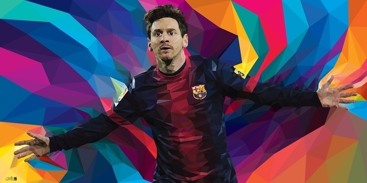 Leo Messi fan art - illustration - erikdgmx | ello