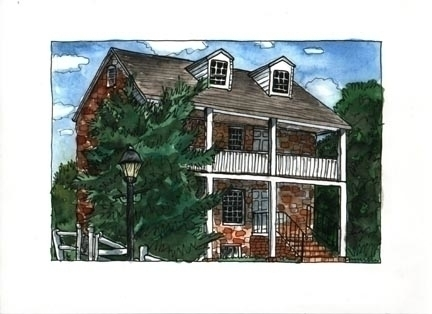 Barracks, watercolor pen ink, c - laurencurtis | ello