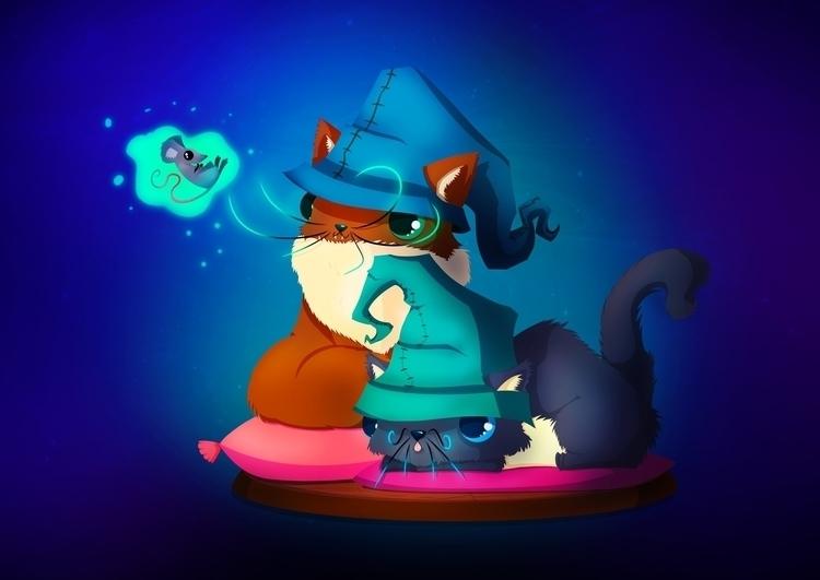Wizard Kittens... love magic pl - leassel | ello