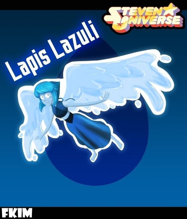 Lapis Lazuli - illustration, painting - fkim90 | ello