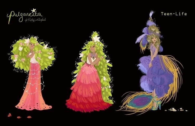 Visual Development Pulgarcita - katiagrifols,pulgarcita,vuslaudevelopment,characterdesign,conceptart,fairy,flower,nature, - katiagrifols | ello