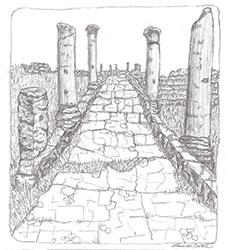 Italian Ruins, pen ink, commiss - laurencurtis   ello
