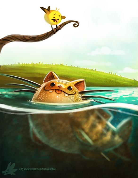 Daily Paint Cat-fish - 989. - piperthibodeau | ello