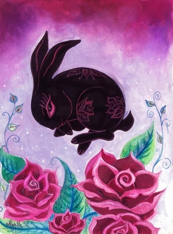 Rose Bunny -Marsala Pantone 201 - michellecortazar10 | ello