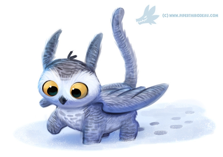 Daily Paint Owl Griffin - 1134. - piperthibodeau | ello