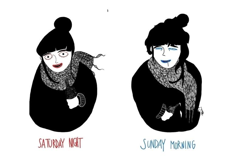 saturday/sunday - digitalillustration - spoto | ello
