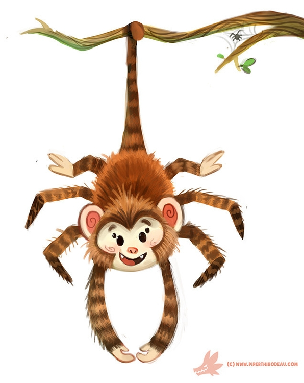 Daily Paint Spider Monkey - 1182. - piperthibodeau | ello