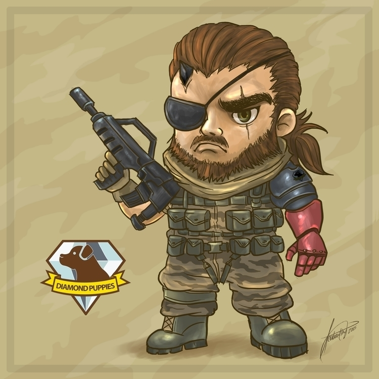 Boss. chibi version Snake - illustration - isaiah1989 | ello