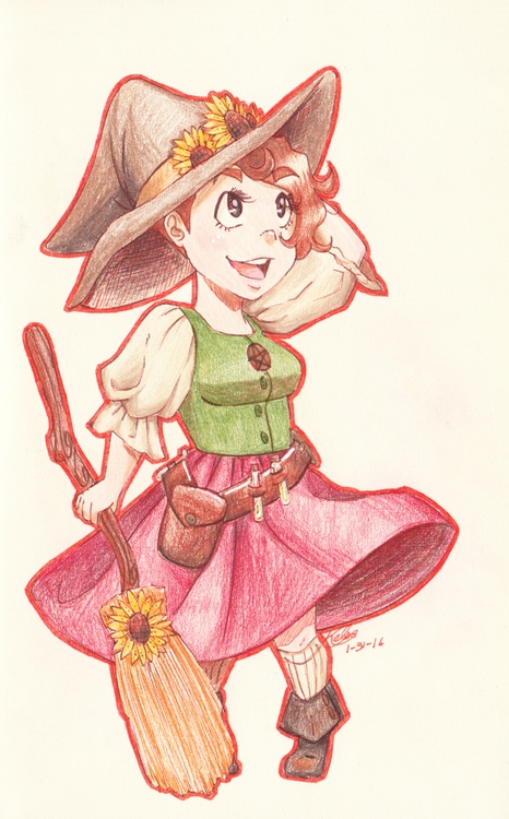 Witchsona Week doodle - illustration - kelsonouveau | ello