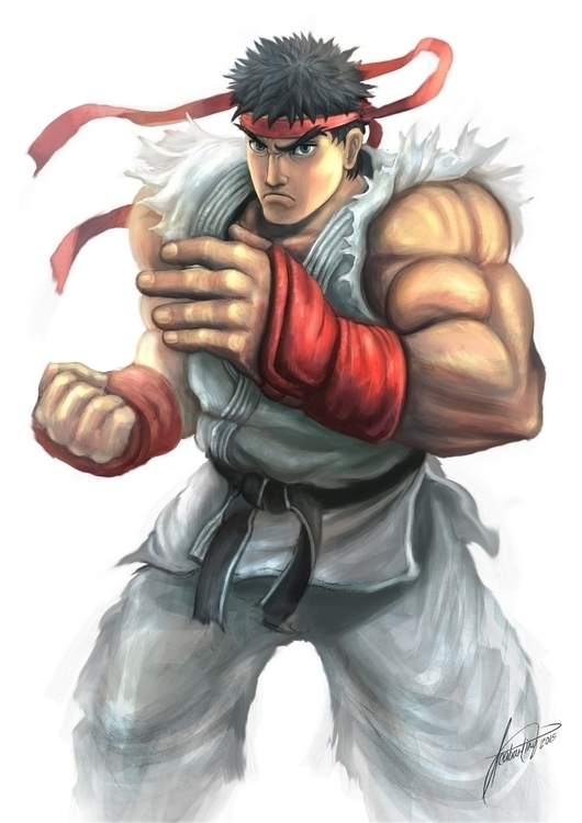 Ryu fanart - illustration, animation - isaiah1989 | ello