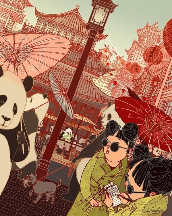 Panda Pursuit - panda, China, detective - brennathummler | ello