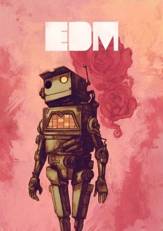 electronic dance music - illustration - tomsoftley | ello