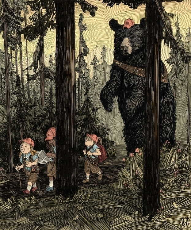 Girl Scouts - girlscouts, bear, forest - brennathummler | ello