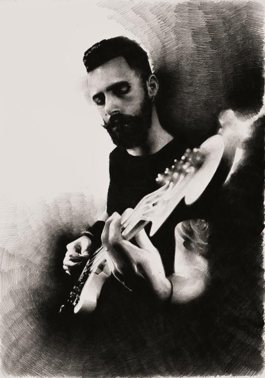 Guitarist (Diego Cecchetto - portrait - chirimasmind | ello