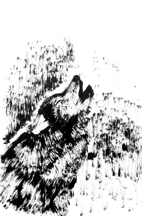 Wolf - wolf, drawing, inkandbrush - sijie_ng | ello