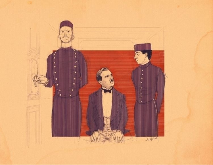 Grand Budapest Hotel - illustration - stefano-4302 | ello