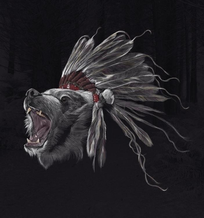 Running Bear --Digital Illustra - adamdunt | ello