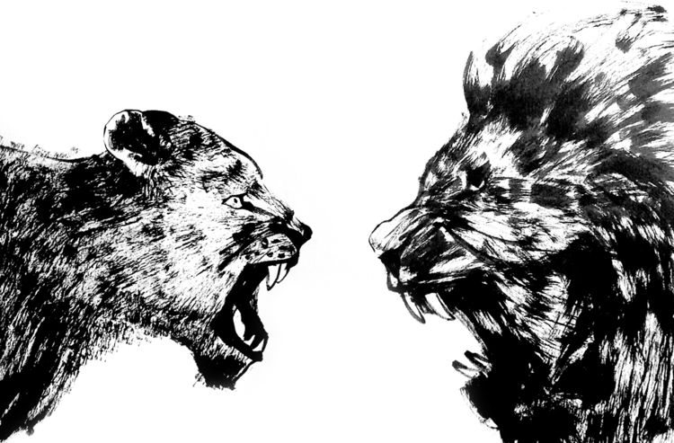Roar - Lion, roar, animal, drawing - sijie_ng | ello