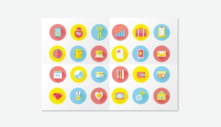business flat icon - illustration - wirastuti | ello