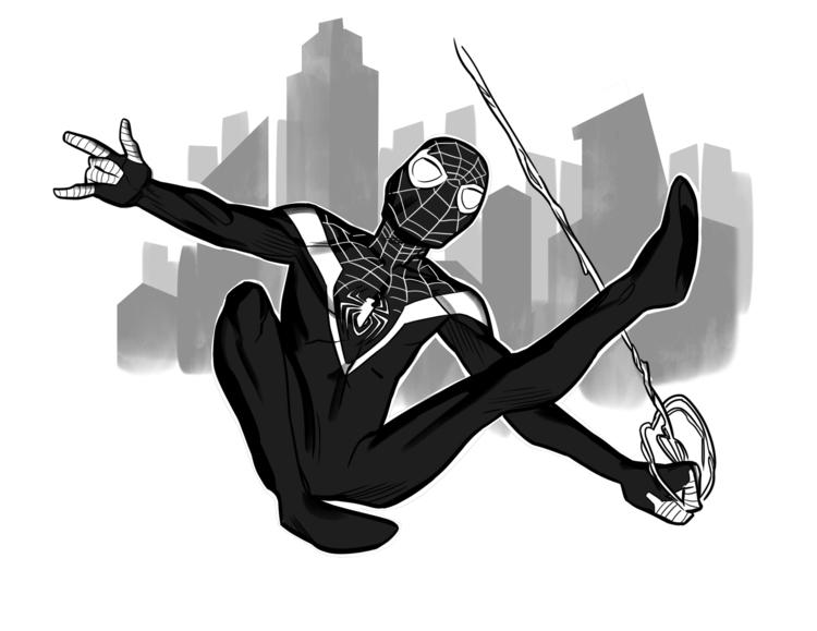Spiderman Illustration - illustration - lewisj3 | ello