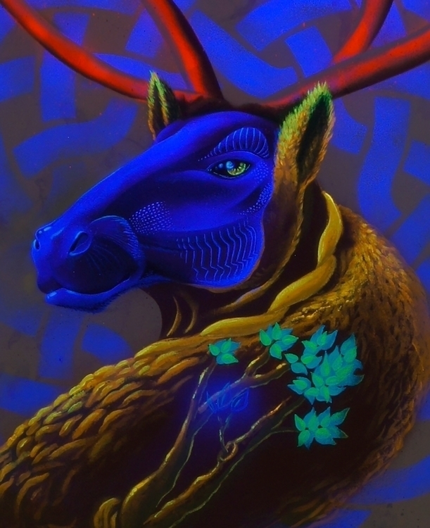 blacklight [UV] 100x80 Canvas  - jahone   ello
