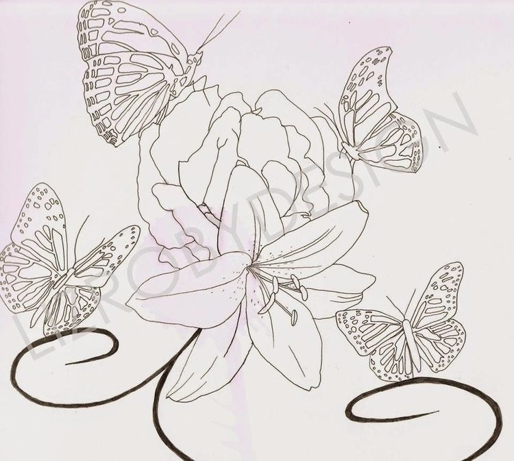 Flowers Butterfly Tattoo repres - lizroby | ello