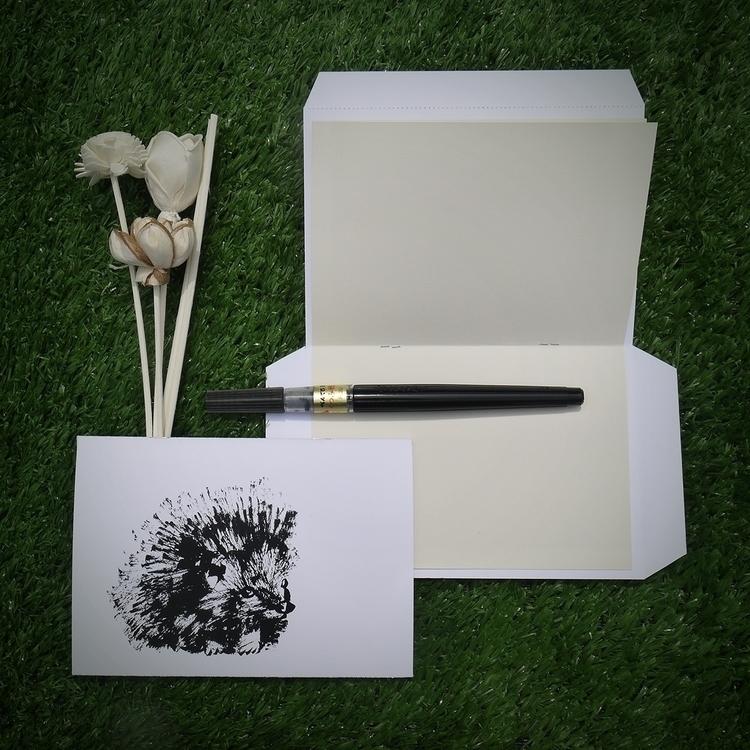 Hedgehog • Postcard. Pm price,  - sijie_ng | ello