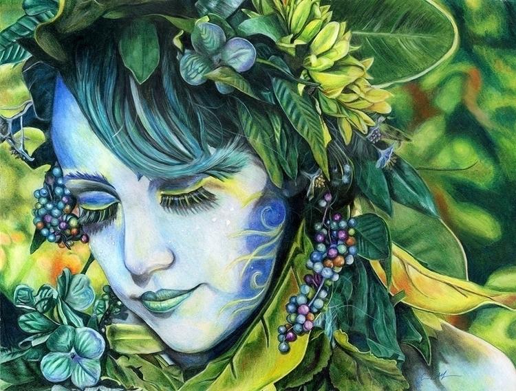 Lady Blue - drawing, coloredpencil - chromaddict | ello