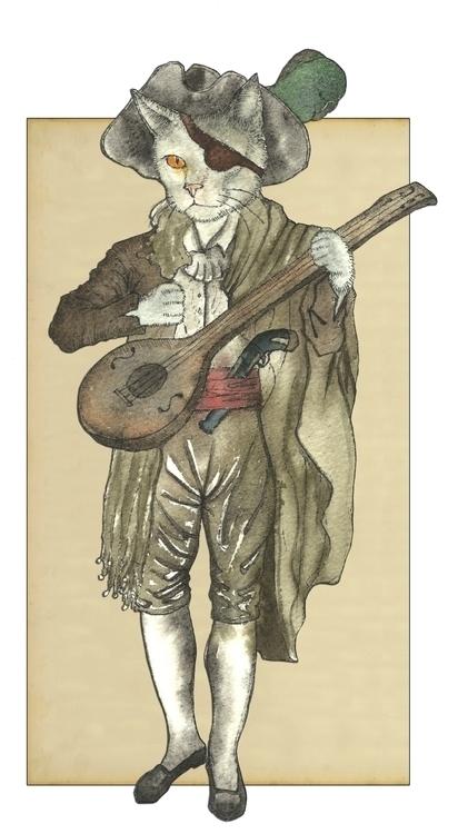 Pirate Cat Musician - felissimha - felissimha | ello