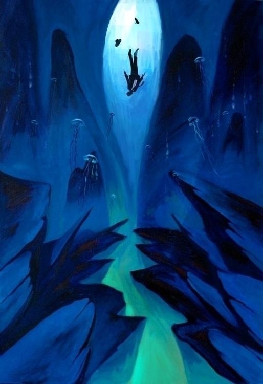 Falling - illustration - ccampbellart | ello