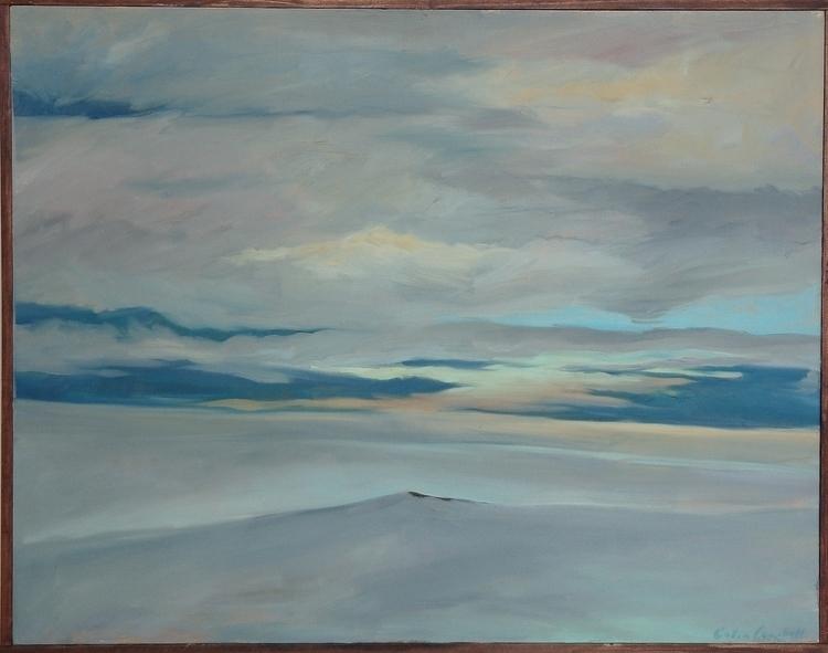 Quiet - oilpainting, landscape, antarctica - ccampbellart | ello