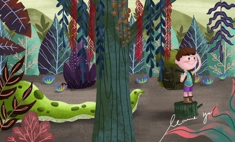 monster jungle - illustration, painting - leannepet | ello