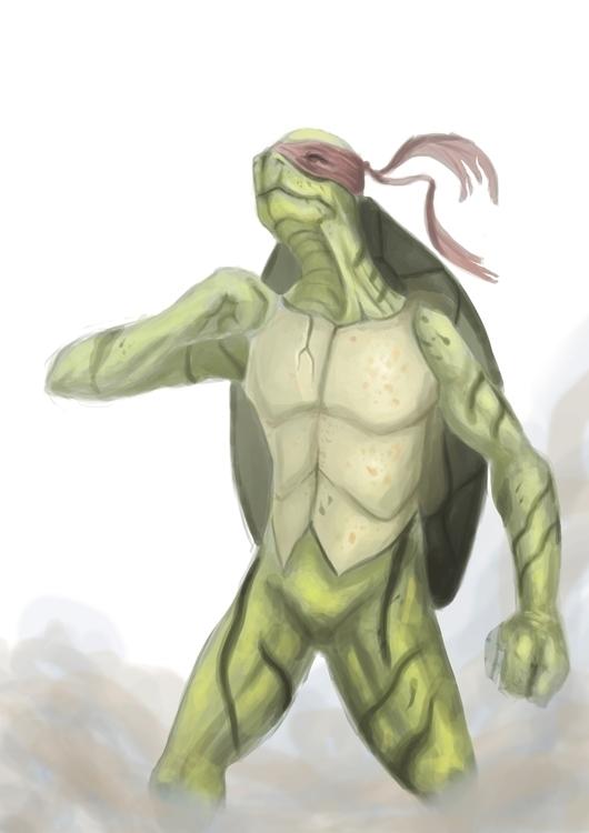 realistic Raphael TMNT - illustration - jjscottillustration | ello