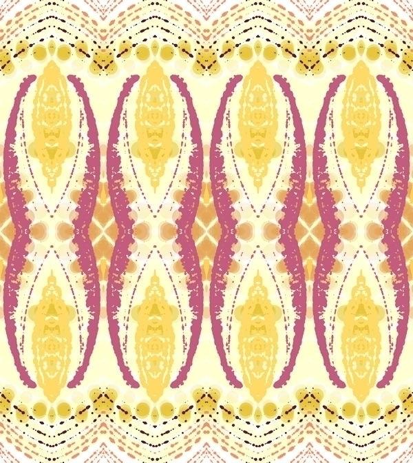 Colorful Textile Pattern - pattern - deannclaudette | ello
