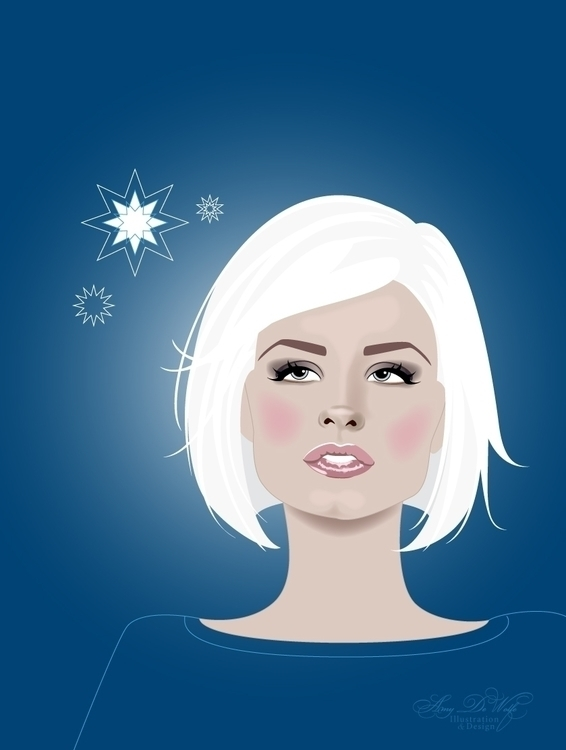 Snow Flakes - illustration, winter - amydewolfe | ello