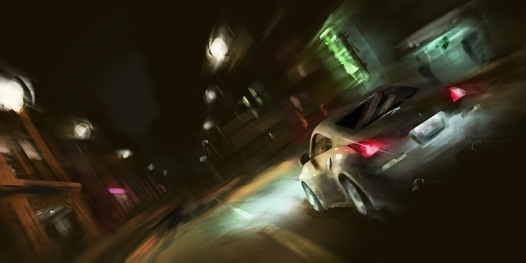 Nissan powering city - car, conceptart - whitewall | ello