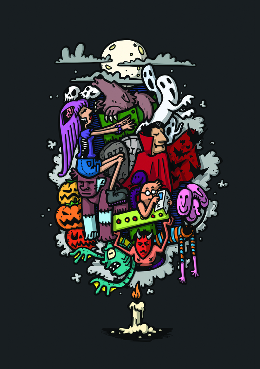 Halloween 2015 - illustration, digitalillustration - fabosaurus | ello