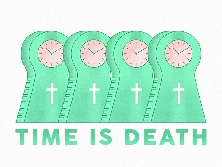 Time death - time, clock, graveyard - bpcreaciones | ello