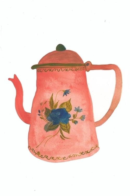 Tea tima - watercolor - spoto | ello