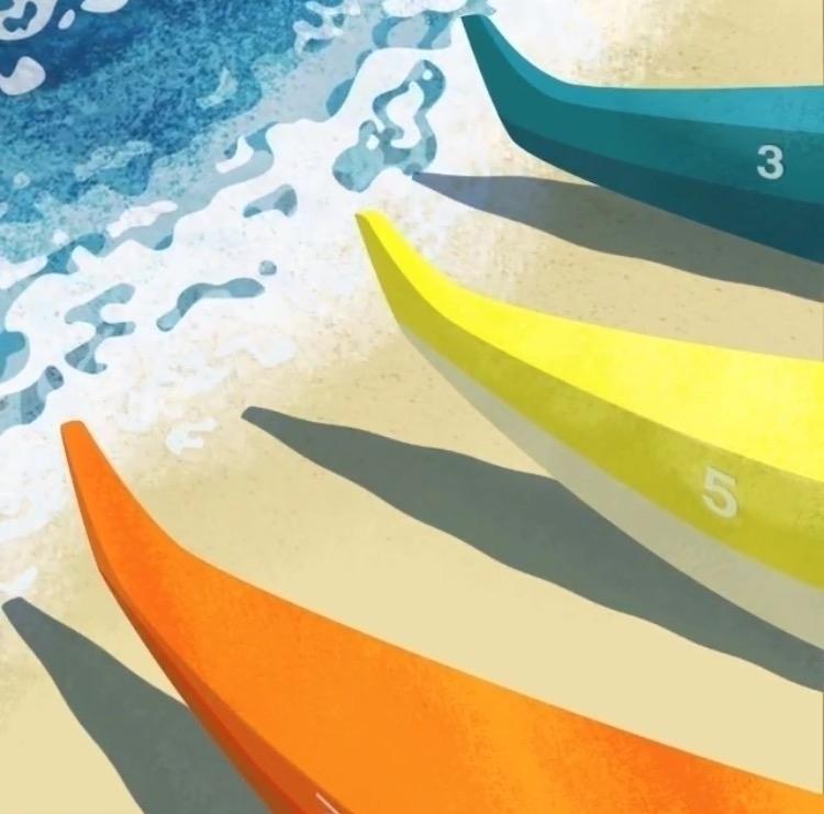 Outriggers Beach - illustration - madelinekohm | ello