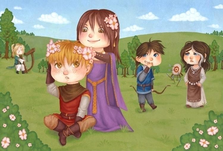 illustration, kids, medieval - melissadelteil | ello