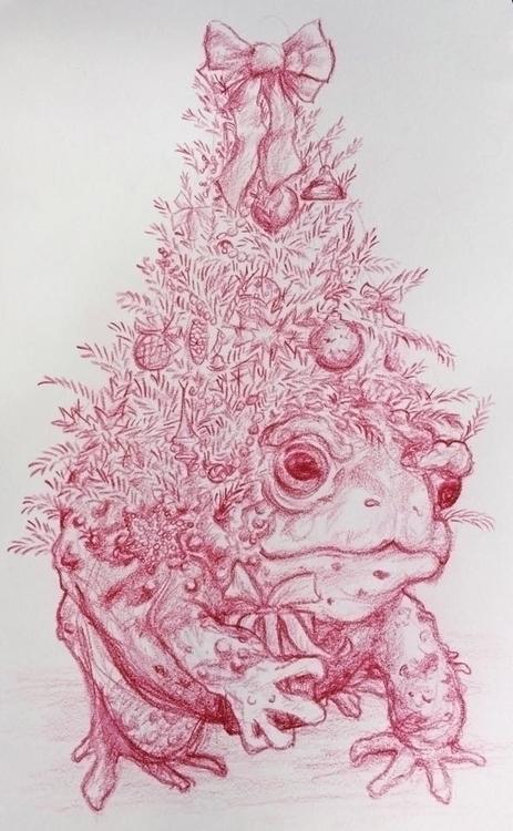 Christmas Tree Toad - illustration - madelinekohm | ello