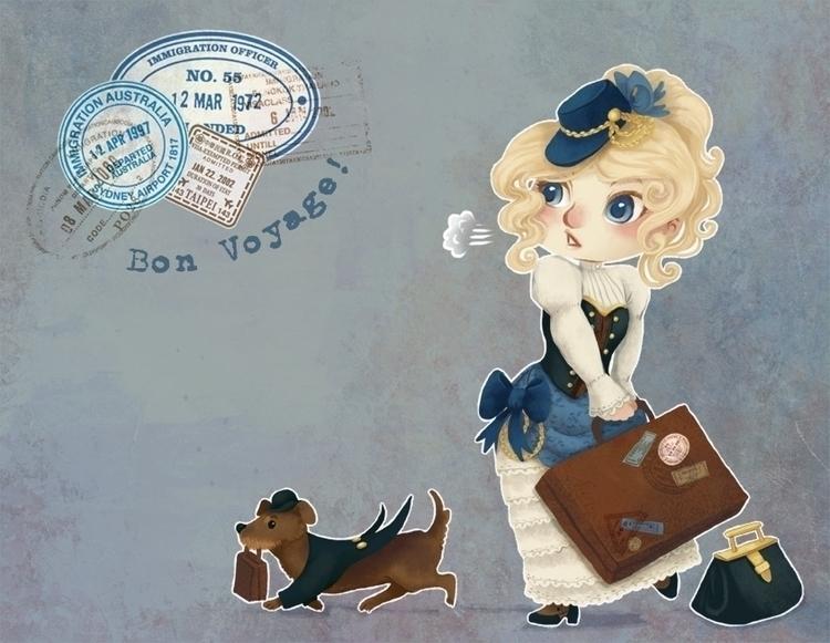 illustration, travel, steampunk - melissadelteil | ello